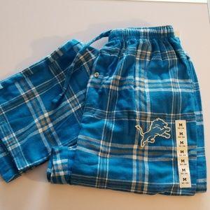 Other - Men NFL Detroit Lions flannel lounge pants